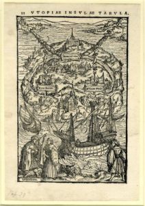 Ambrosius Holbein, Map of Utopia, for the 1518 edition of More's Utopia