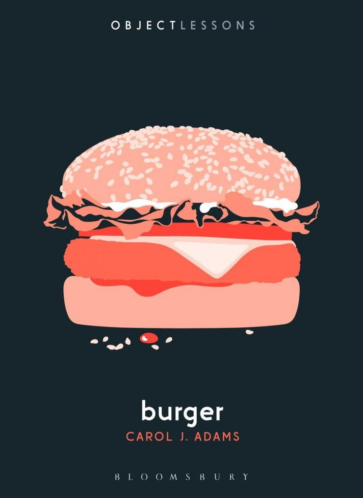 "The cover image by Alice Marwick depicts an ""Impossible Burger"", not a cow burger."
